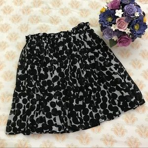 Uniqlo chiffon skirt black
